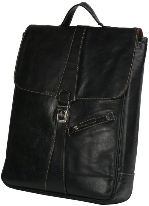 תיק גב גדול לסטודנטים אנשי היי טק עור בפאלו שחור דגם 4051