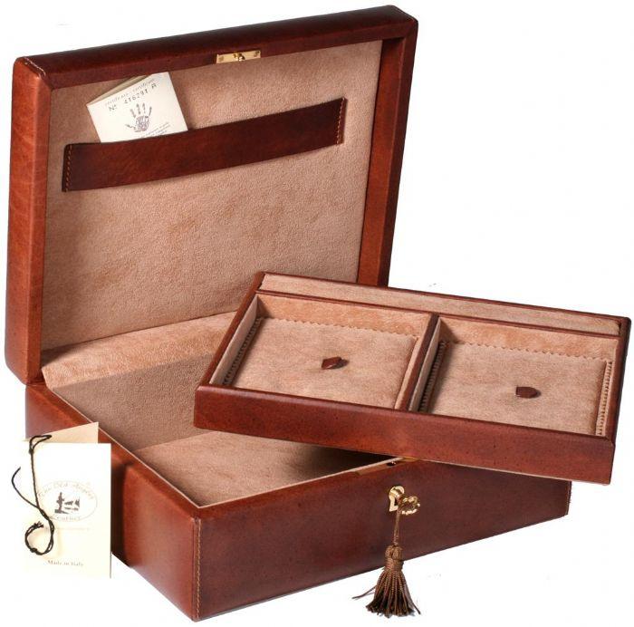 קופסת תכשיטים מעור דגם 70523 מתנה יוקרתית לאישה יקרה