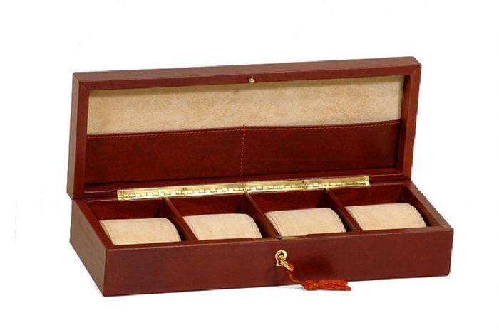קופסת עור יוקרתית לאיחסון שעונים דגם 70522