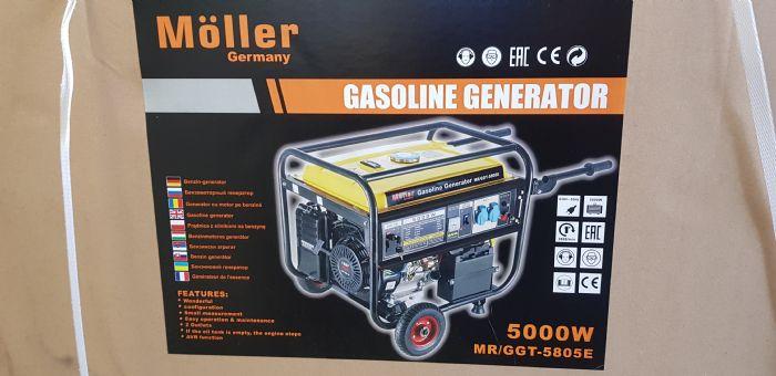 גנרטור בנזין 5000W Moller חד פאזי במבצע!!!