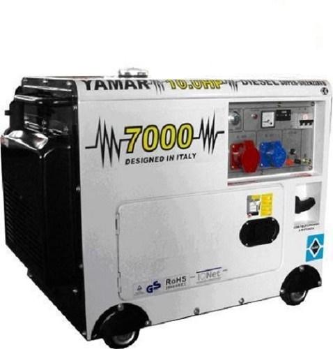 גנרטור דיזל מושתק YAMAR איטליה 6000W חד/תלת פאזי דגם 7-000