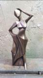 """רקדנית -ברונזה  בגובה 67 ס""""מ"""