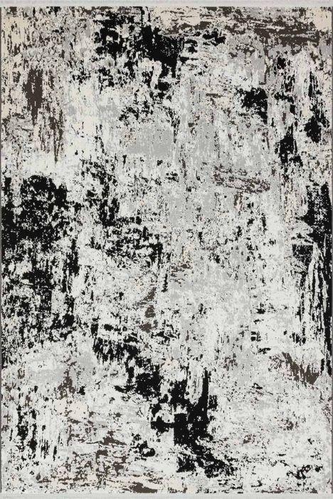שטיח מודרני שחור אבסטרקט 8702