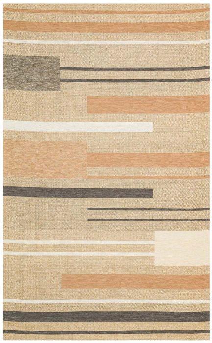 שטיח דמוי חבל פסים פודרה - BRK 06 NATURAL TERRA
