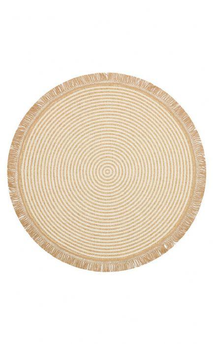 שטיח עגול דמוי חבל ספירלה קרם - BRK 07 IVORY