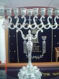 חנוכית השמן להדלקת הנרות בחג החנוכה - תודה לתורמים.