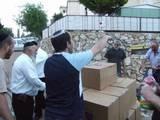 """והמשטח נוסע לתוך בית הכנסת אור-הרש""""ש,לפני החלוקה הכללית."""