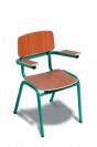 כסא רגל מתכת+ידיות