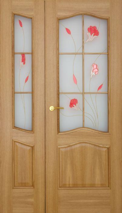דלת כניסה עץ 2 חלקים