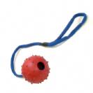 כדור גומי קוצני קטן עם חבל