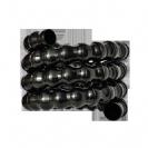צינור חוליות גמיש שחור 25 ממ