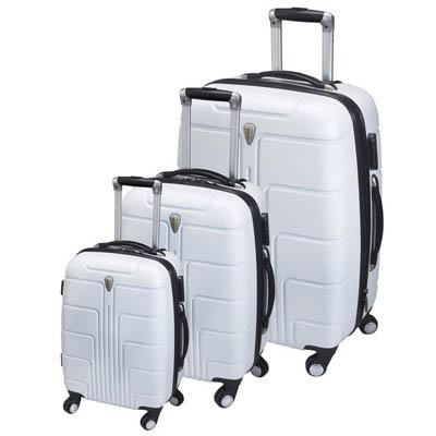 BZ2312 סט מזוודות קשיחות לבן