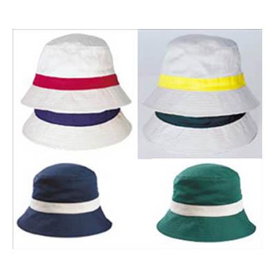 BA2718 - כובע ספארי פס צבע