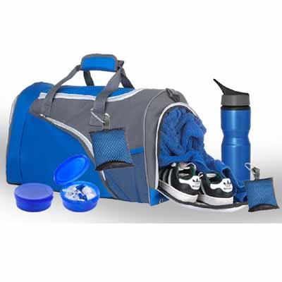 BA0021 - סט תיק ספורט/בקבוק/אוזניות/מגבת