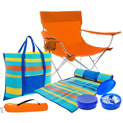 BA9011 - סט כיסא/תיק חוף/אוזניות