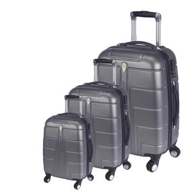 BZ2497 סט מזוודות קשיחות אפור/טיטניום