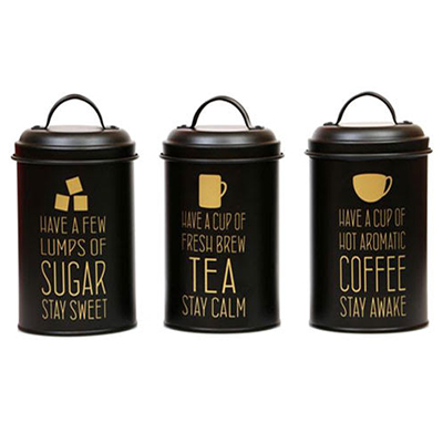 B56551 - סט תה / קפה / סוכר שחור