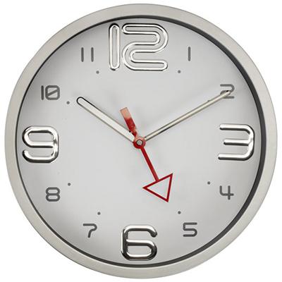 שעון קיר מסגרת כרום