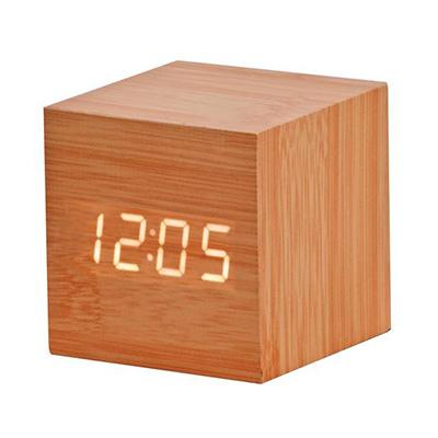 BM3317 - שעון שולחני קוביית עץ