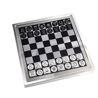 BN 50555 - משחק אלומיניום שחמט ודמקה