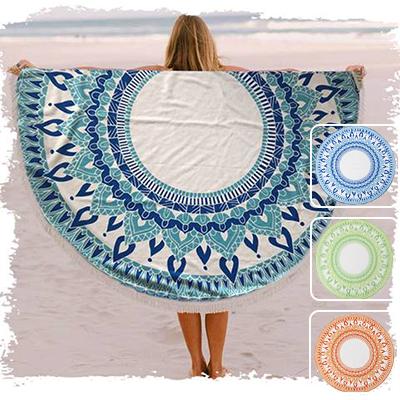 BK7555 - מגבת חוף עגולה