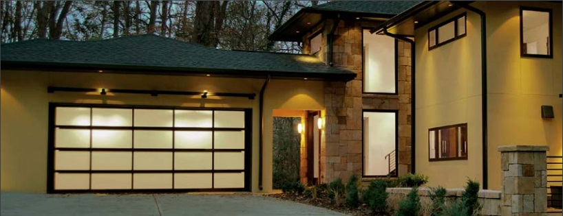 glass and aluminum garage doors