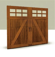 Faux Wooden Garage Doors Los Angeles