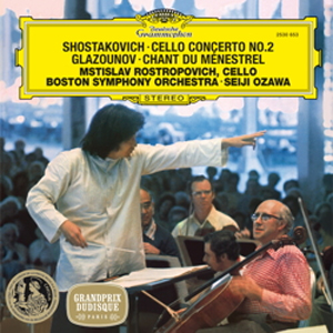 Shostakovich Glazunov Cello Works Rostropovich Ozawa