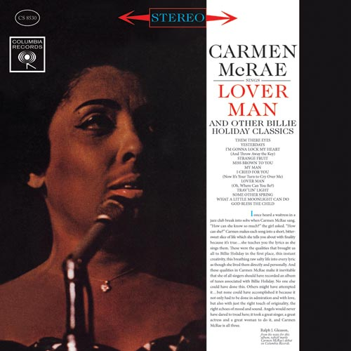 Carmen McRea Sings Billie Holiday