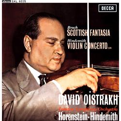 Bruch Scottish Fantasy Hindemith Violin Concerto Oistrakh