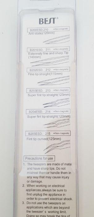 BEST Tweezers - 210/211/212/213/214/215