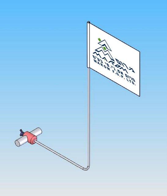 התקן דגל לרכב דו-גלגלי