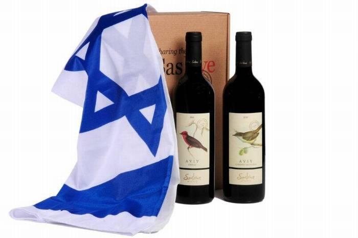 ערכת דגל לאום + יין ליום העצמאות