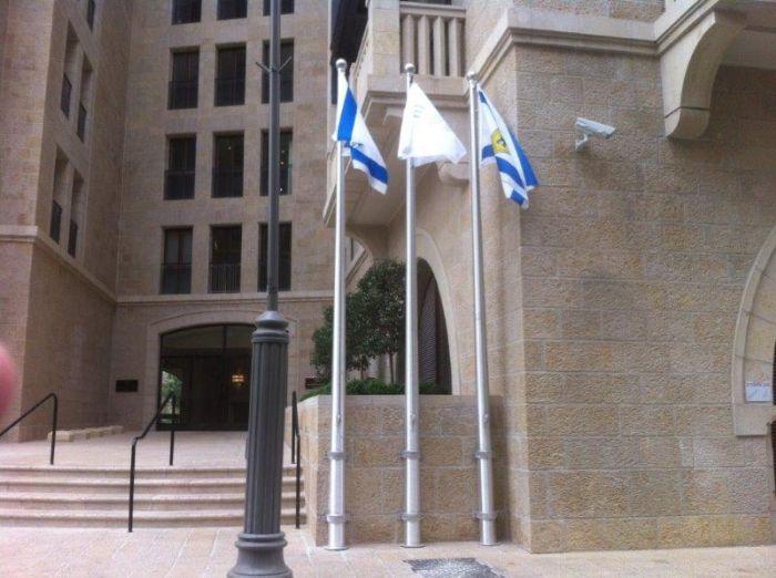 תורן אלומיניום קוני מלון וולדורף אסטוריה בירושלים