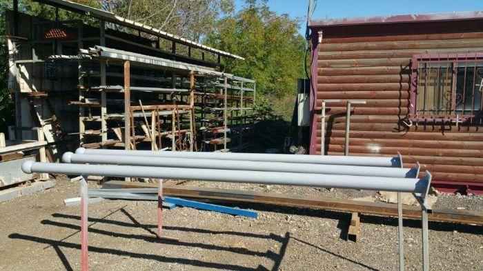 תרני פלדה אחידים בקוטר 3 צול גובה 3 מטר