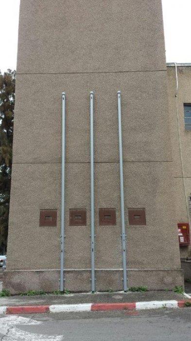 תורן פלדה אחיד בקוטר 3 צול גובה 6 מטר