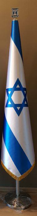 פטנט מרום לייצוב דגל הכולל סמל המדינה ממתכת