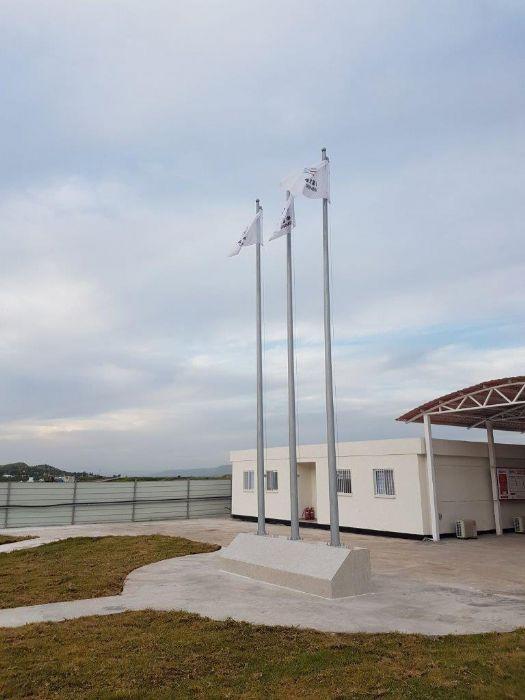 תורן פלדה קוני בגובה 8 מטר התקנה בחברת סינו היידרו פרוייקט אגירה שאובה כוכב הירדן עמק המעיינות