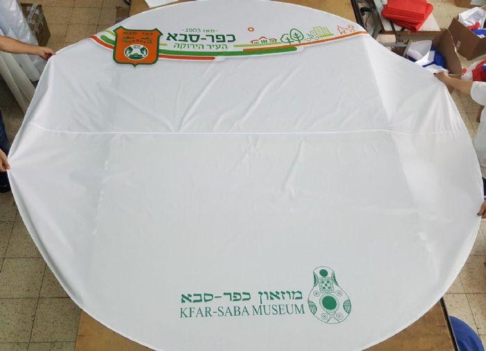 מפת שולחן עגולה בקוטר 300 סמ הדפסה על בד שומרון מט