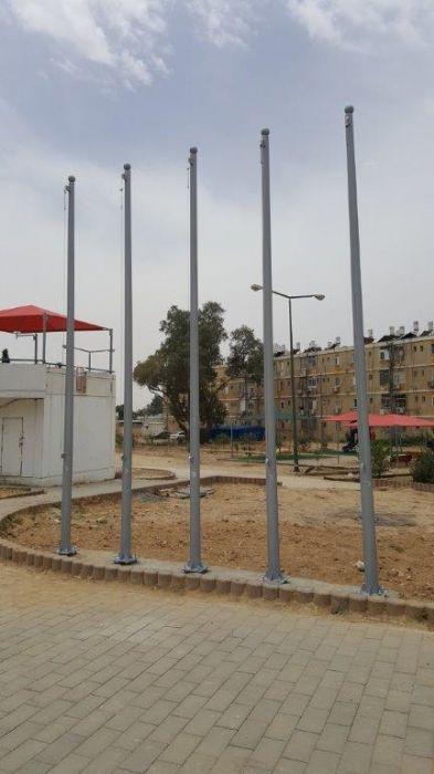 תורן פלדה קוני בגובה 5 מטר התקנה בפארק ספורט שדרות בן גוריון באר שבע