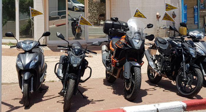 דגולני אופנועים עם מוט פיברגלאס