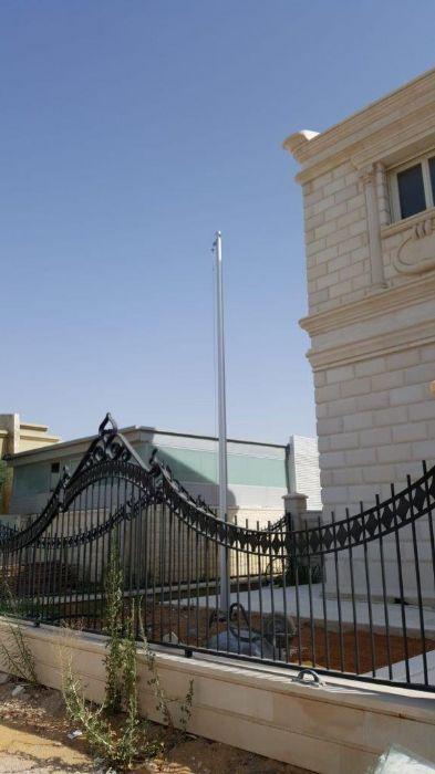 תורן אלומיניום קוני בגובה 6 מטר התקנה בבית פרטי בנתיבות