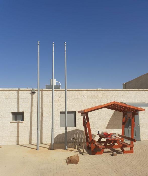 תורן פלדה קוני 6 מטר לתחנת כיבוי אש ירוחם