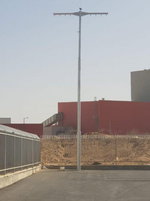 תורן פלדה 12 מטר לייבוש זרנוקים התקנה בתחנת כיבוי אש בירוחם
