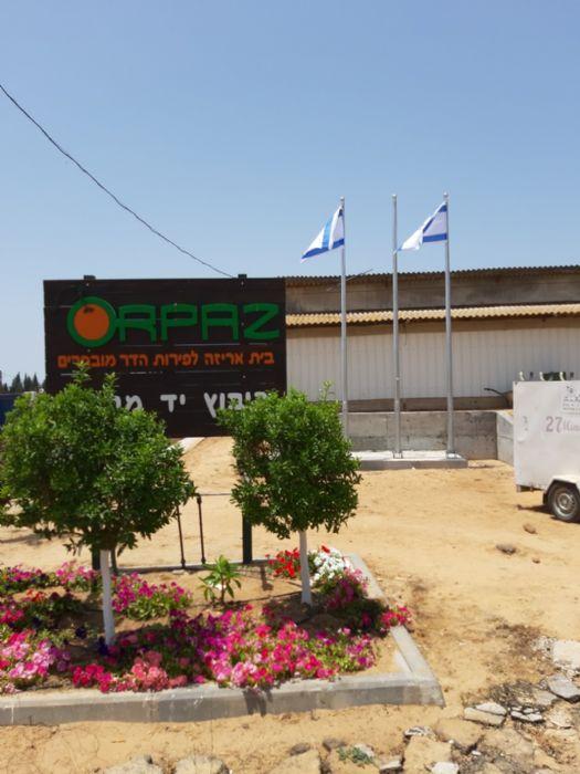 התקנת תורן פלדה קוני בגובה 6 מטר בחברת אורפז הדר יד מרדכי