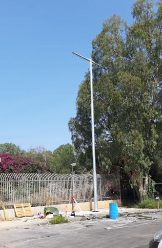 תורן פלדה לייבוש זרנוקים בגובה 12 מטר - התקנה בתחנת כיבוי אש בנתניה