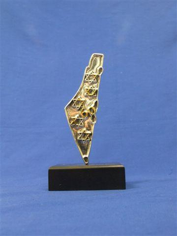 פסלונים מיוחדים בצורת ארץ ישראל