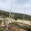 תורן פלדה קוני בגובה 8 מטר התקנה בפארק תעשיות בר לב משגב