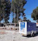 תורן פלדה קוני בגובה 6 מטר התקנה בבסיס תל השומר