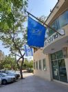 Aluminum diagonal flagpole 60 mm in length 250 cm Installation in Omer Local Council building